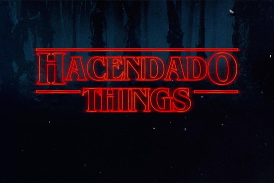 Stranger Things tipografía lettering fuentes Hacendado Vibranding