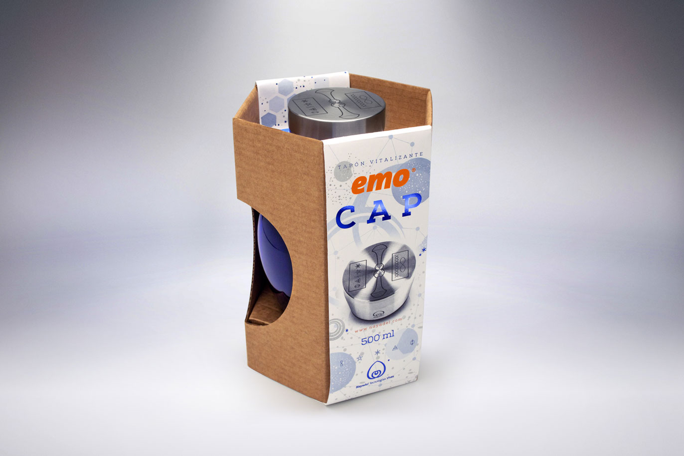 Emo Cap eco-packaging graphic design visual communication Vibranding