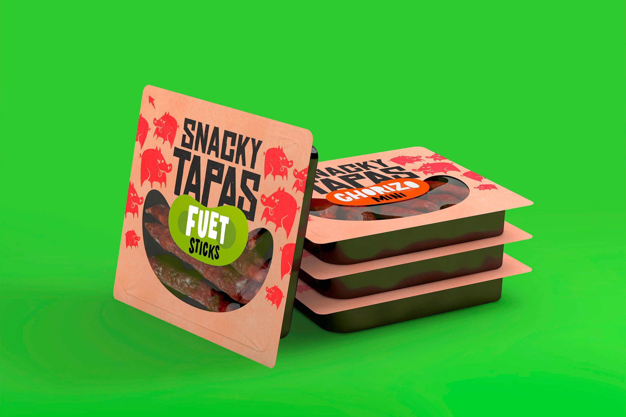 Packaging Alimentación Snacky Tapas Can Calet Embutidos Vibranding