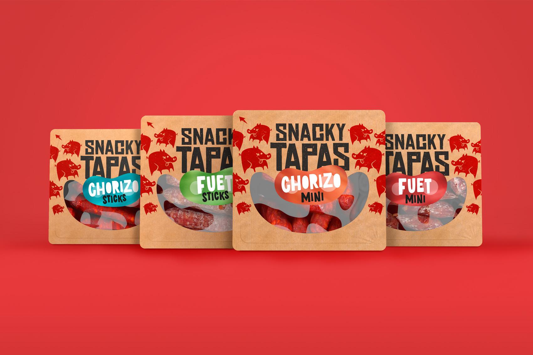 Vibranding packaging gran consumo FGCG snacks design