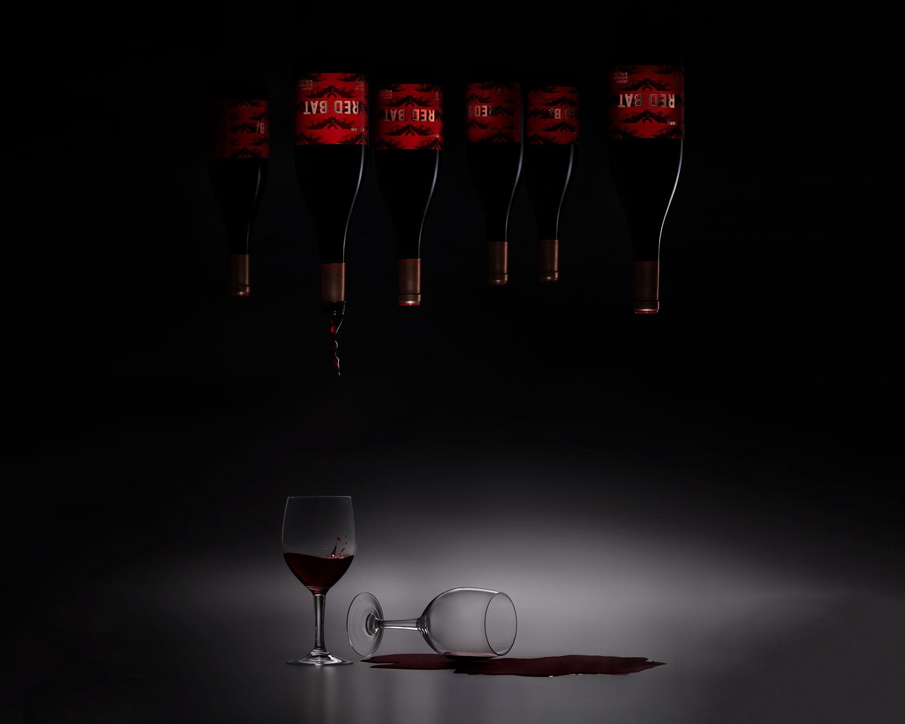 Pinord Red Bat vino diseño de etiqueta branding naming gran consumo packaging diseño gráfico Vibranding