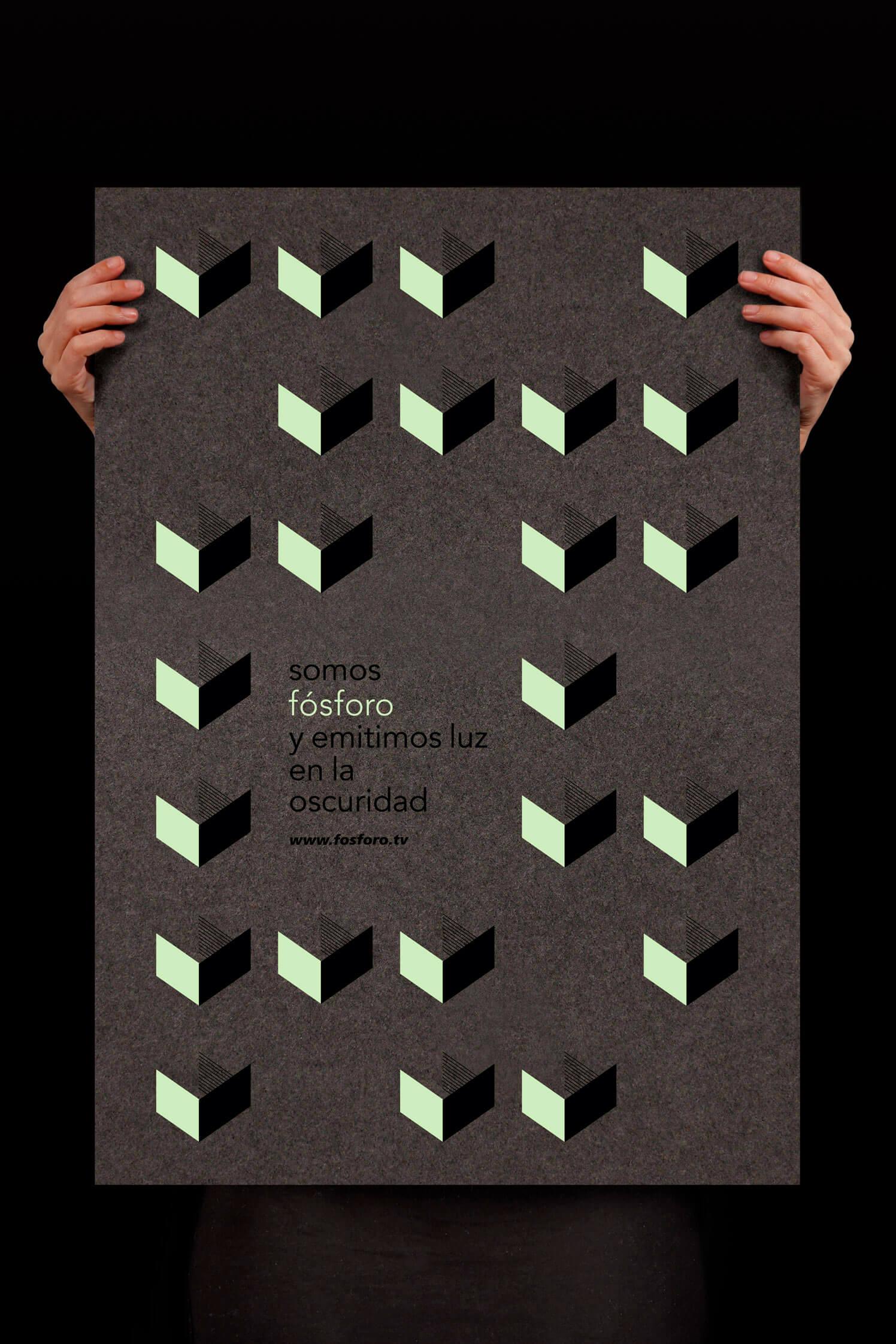 Poster con el logotipo diseñado para Fósforo