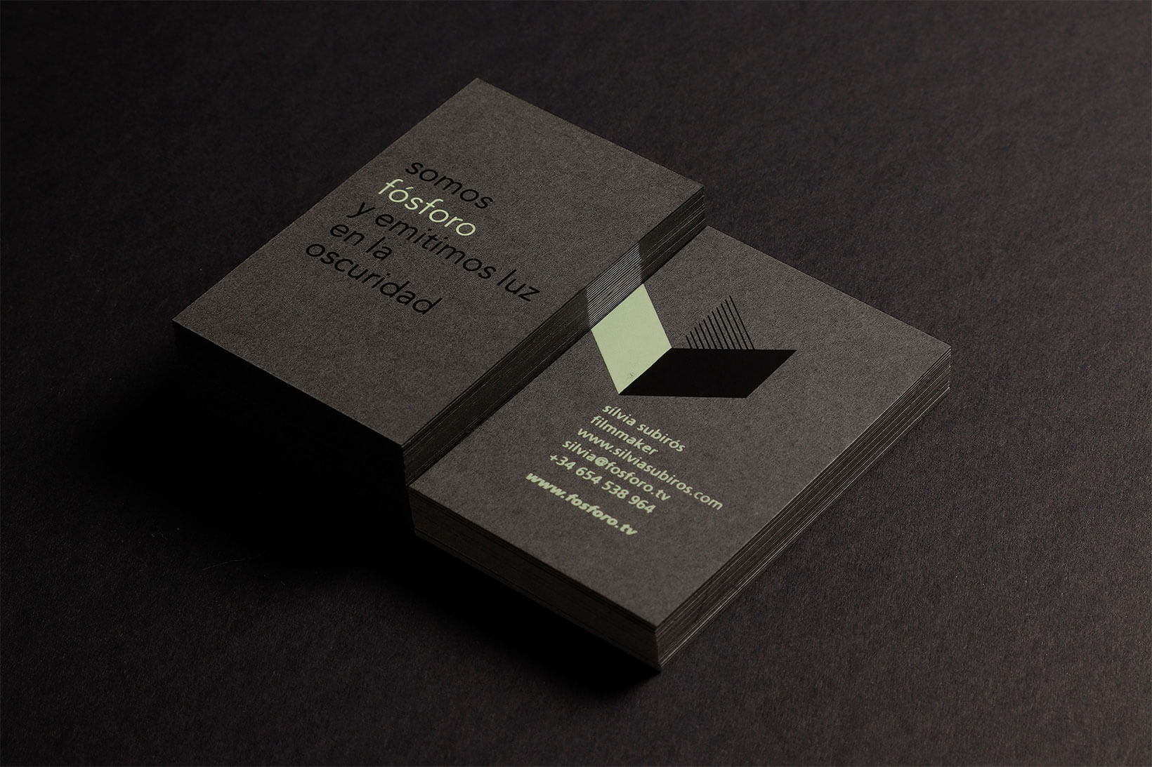 Fósforo film production branding logo design typography graphic design art direction business cards Vibranding