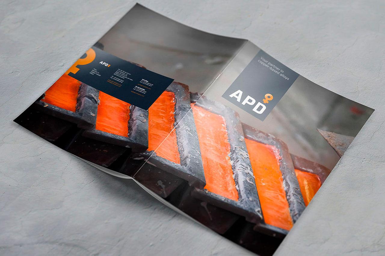 Folleto diseñado para APD