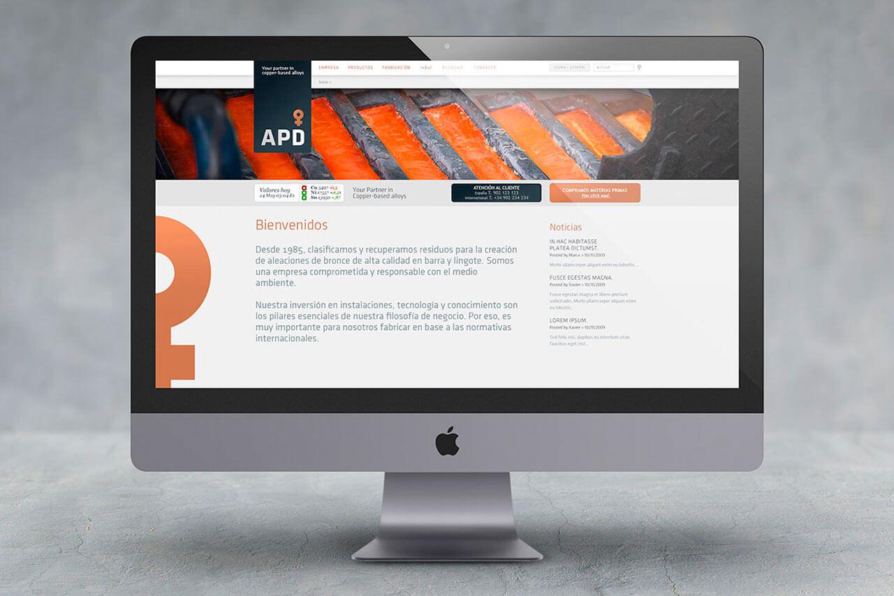 Diseño web para APD
