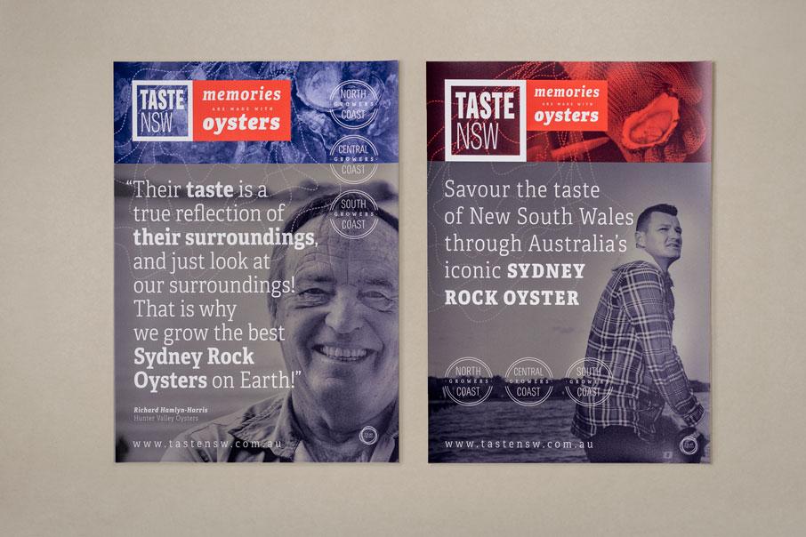 Taste NSW Australia branding diseño de logo identidad corporativa material comercial diseño gráfico flyer Vibranding