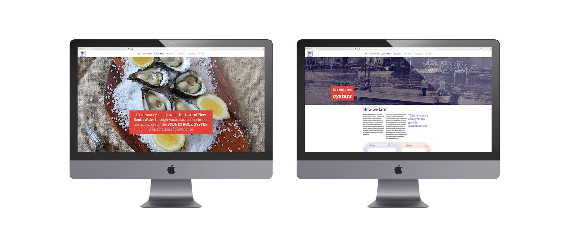 Taste NSW Australia branding logo design corporate identity sales material graphic design web design Vibranding