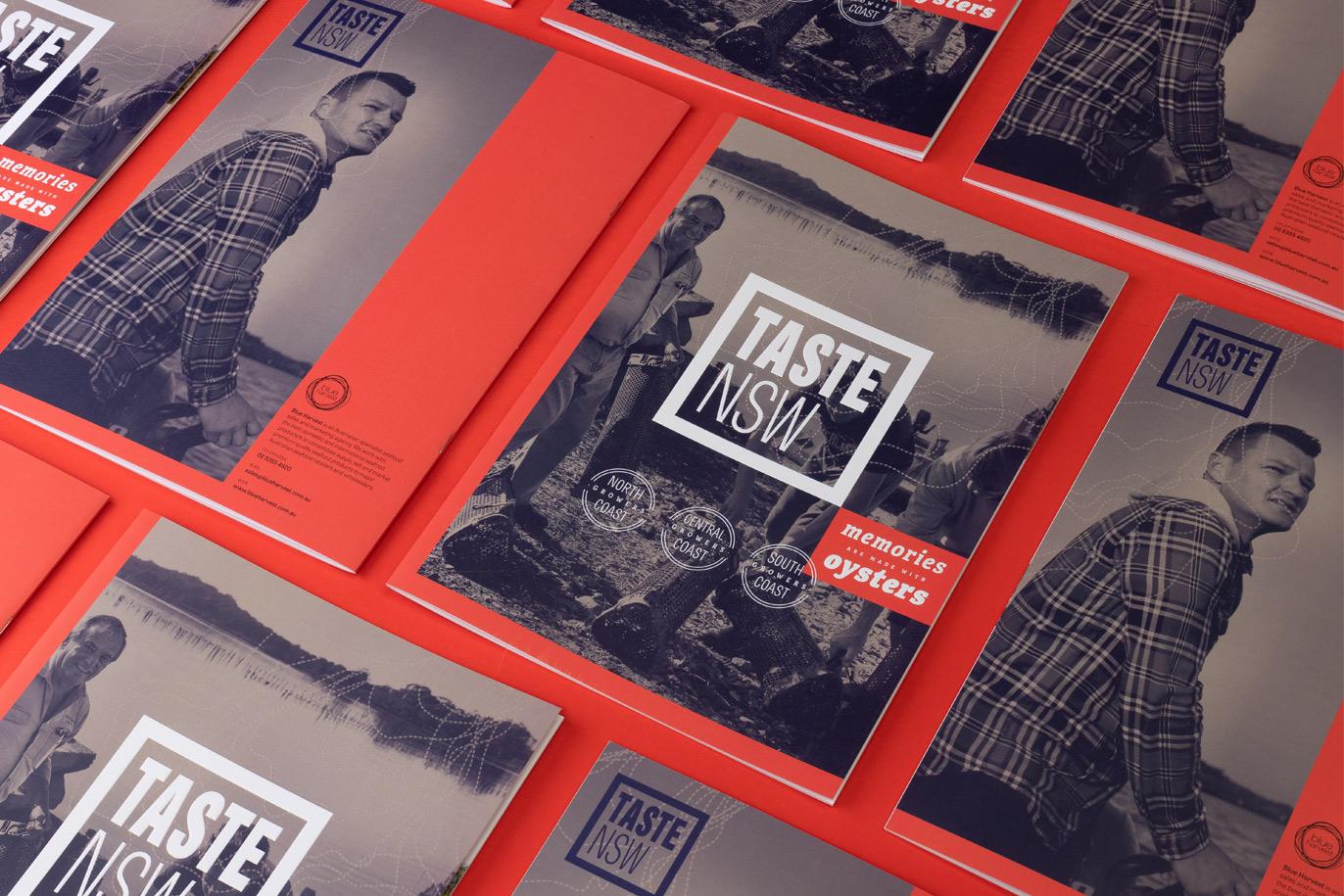 Taste NSW Australia branding diseño de logo identidad corporativa material comercial diseño gráfico Vibranding
