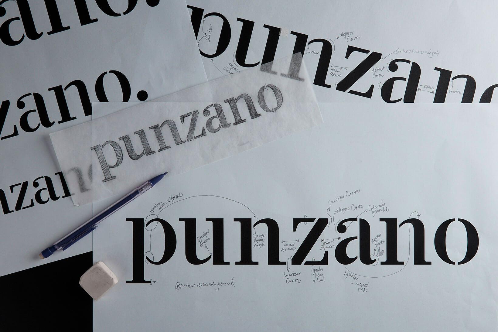Punzano photography branding logo design logotype typography Vibranding
