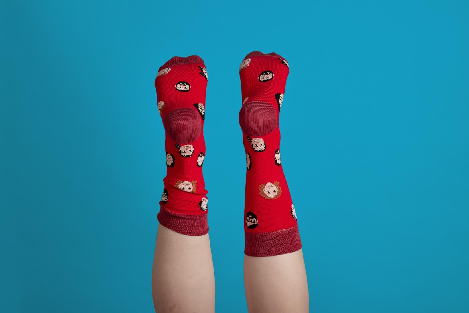 Feliz Navidad de parte del equipo Vibranding, diseño de packaging y calcetines téxtil
