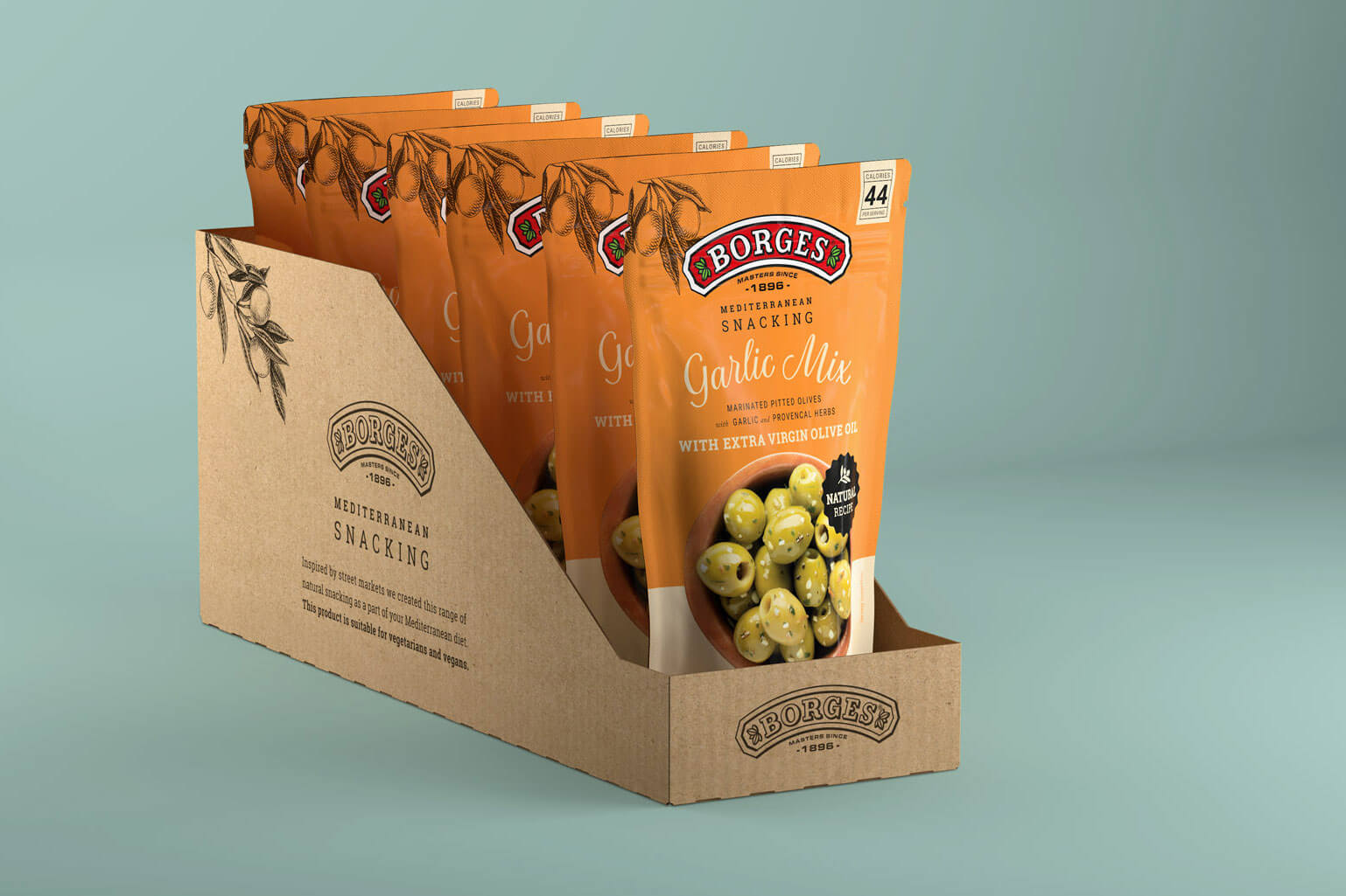 Borges International Group packaging aceitunas diseño gráfico shooting de producto Vibranding