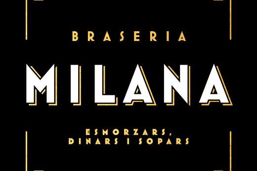 Braseria Milana branding y diseño de imagen corporativa para restaurante