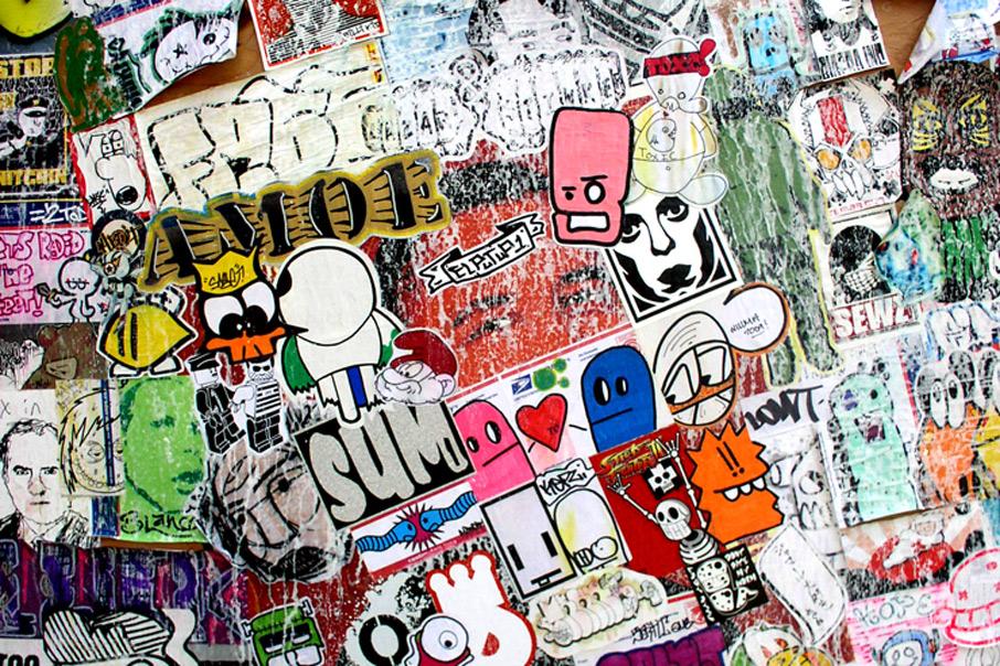 sticker art underground etiquetas packaging diseño gráfico Vibranding