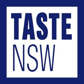Taste NSW Australia branding diseño de logo identidad corporativa material comercial diseño gráfico logotipo Vibranding