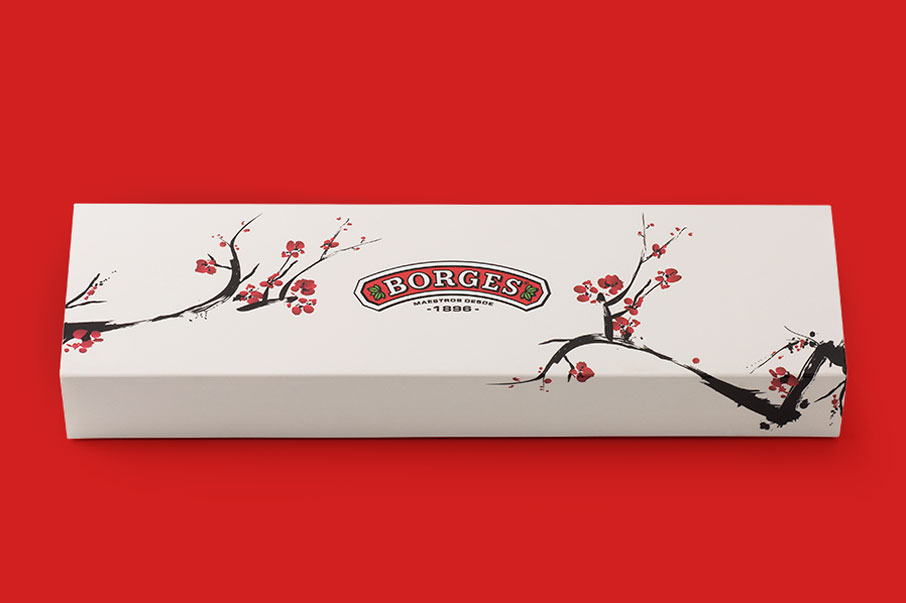 Borges soja packaging selling kit HORECA diseño gráfico storytelling Vibranding