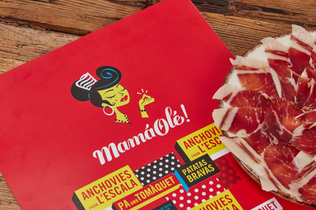Mamá Olé branding naming corporate identity logo design mediterranean food foodie art direction packaging Vibranding