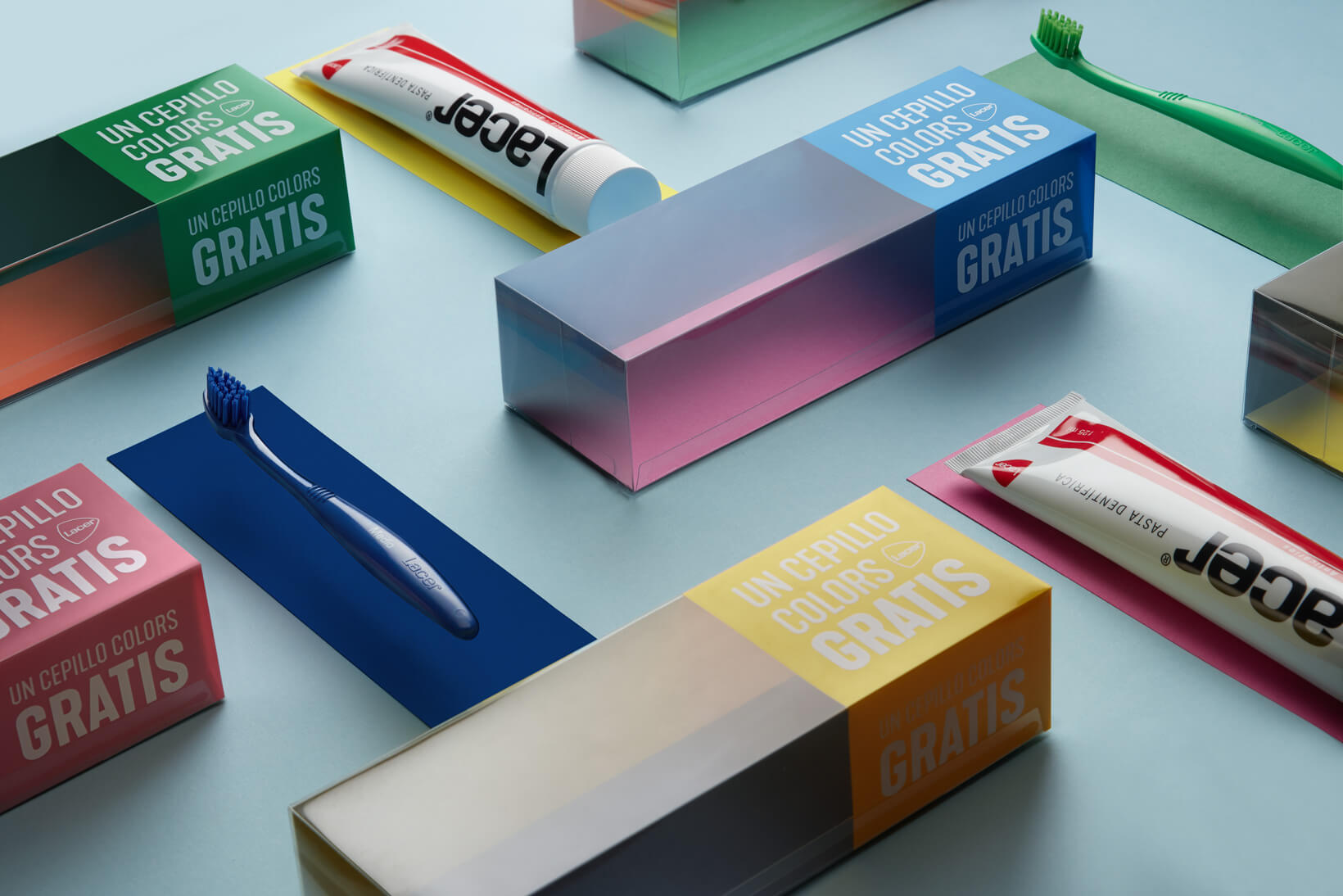 Packaging per a promoció de Laboratoris Lacer