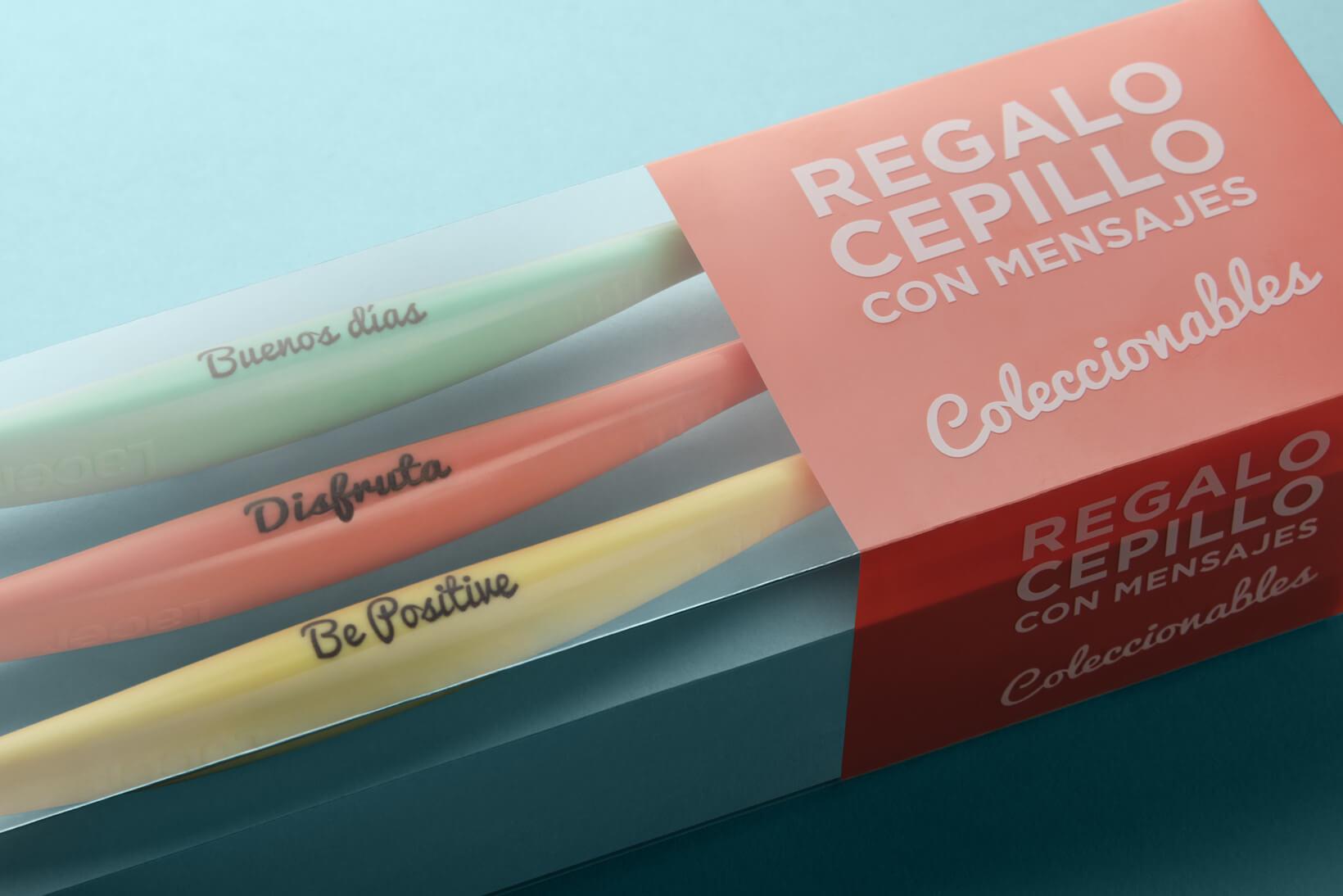 Detall de packaging per a campanya promocional de Laboratoris Lacer