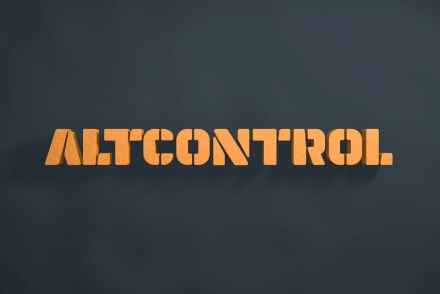 Altcontrol branding naming brand corporate identity industrial Vibranding