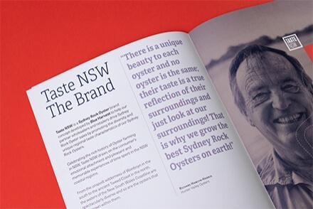 Taste NSW branding identidad corporativa diseño gráfico marca universo visual Vibranding