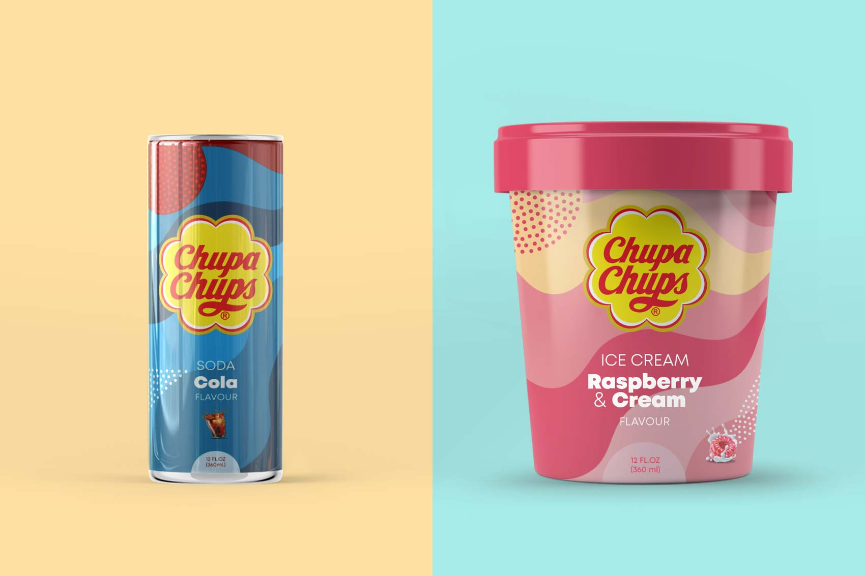 Chupa Chups packaging branding licensing brand architecture graphic design Vibranding