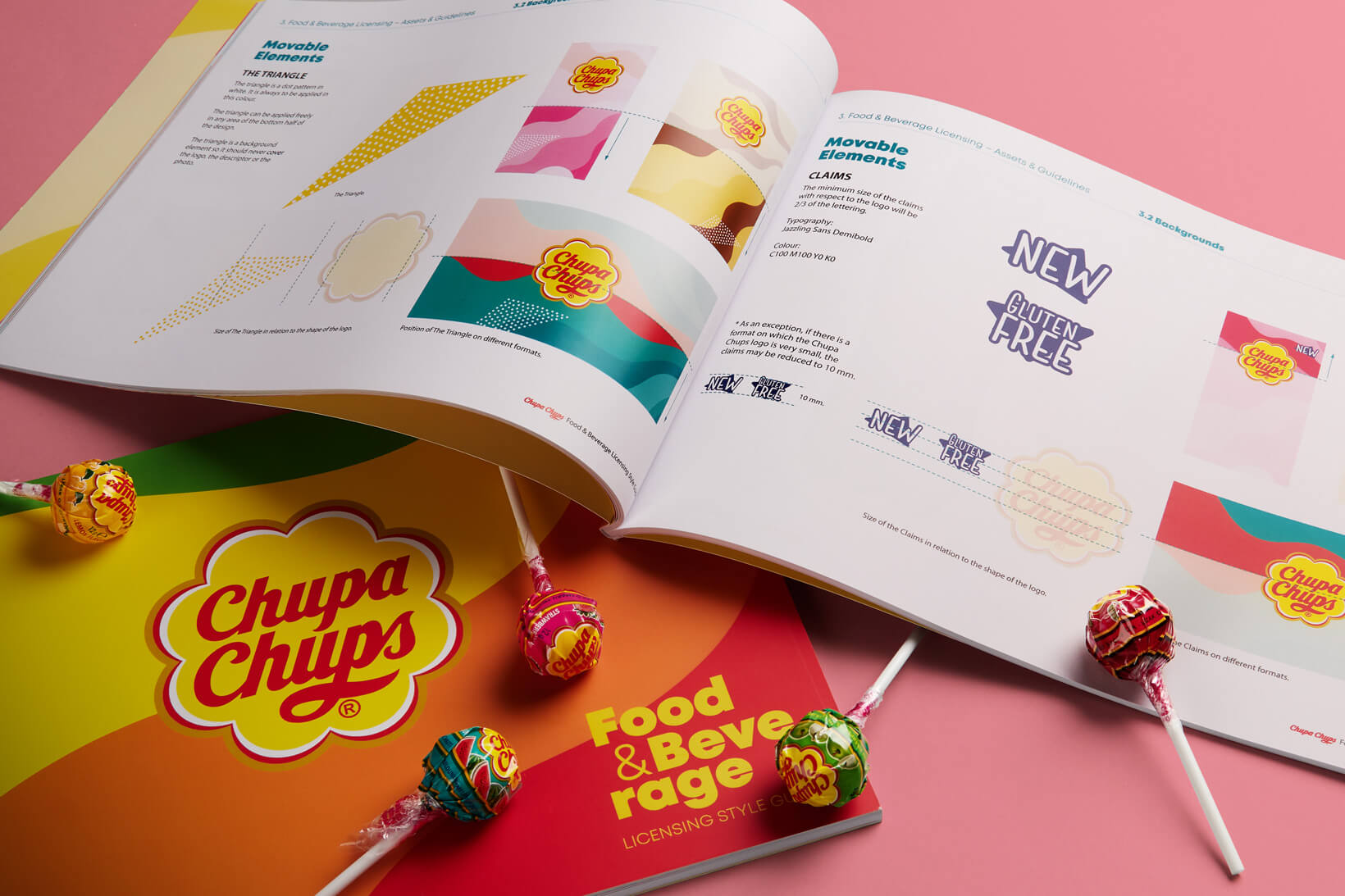 Chupa Chups packaging branding licensing brand architecture graphic design brand book Vibranding