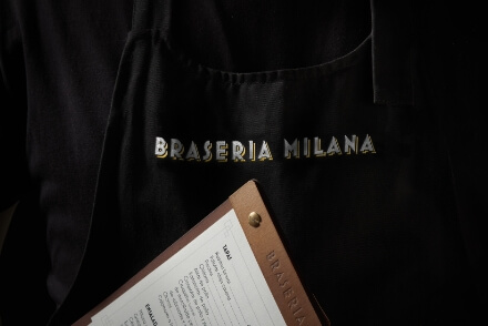 Braseria Milana visual communication sales material graphic design Vibranding