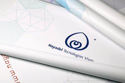 Nayadel visual communication graphic design sales material Vibranding