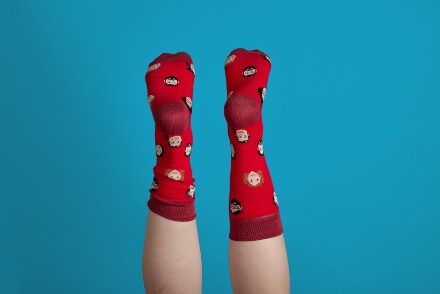 Vibranding socks photography creativity comercial gift