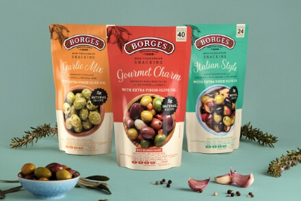 Borges International Group Mediterranean Snacking shooting de producto packaging gran consumo Vibranding