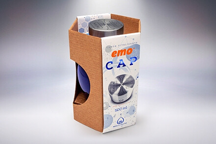 Emo Cap shooting de producto packaging Vibranding