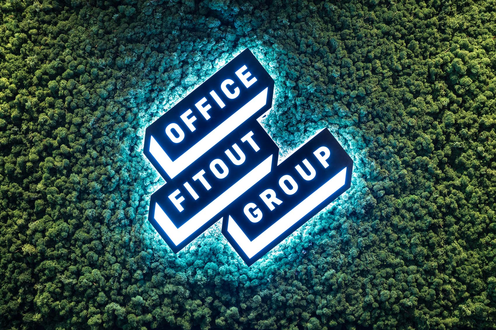 Office Fitout Group graphic communication web design Vibranding branding corporate identity logo