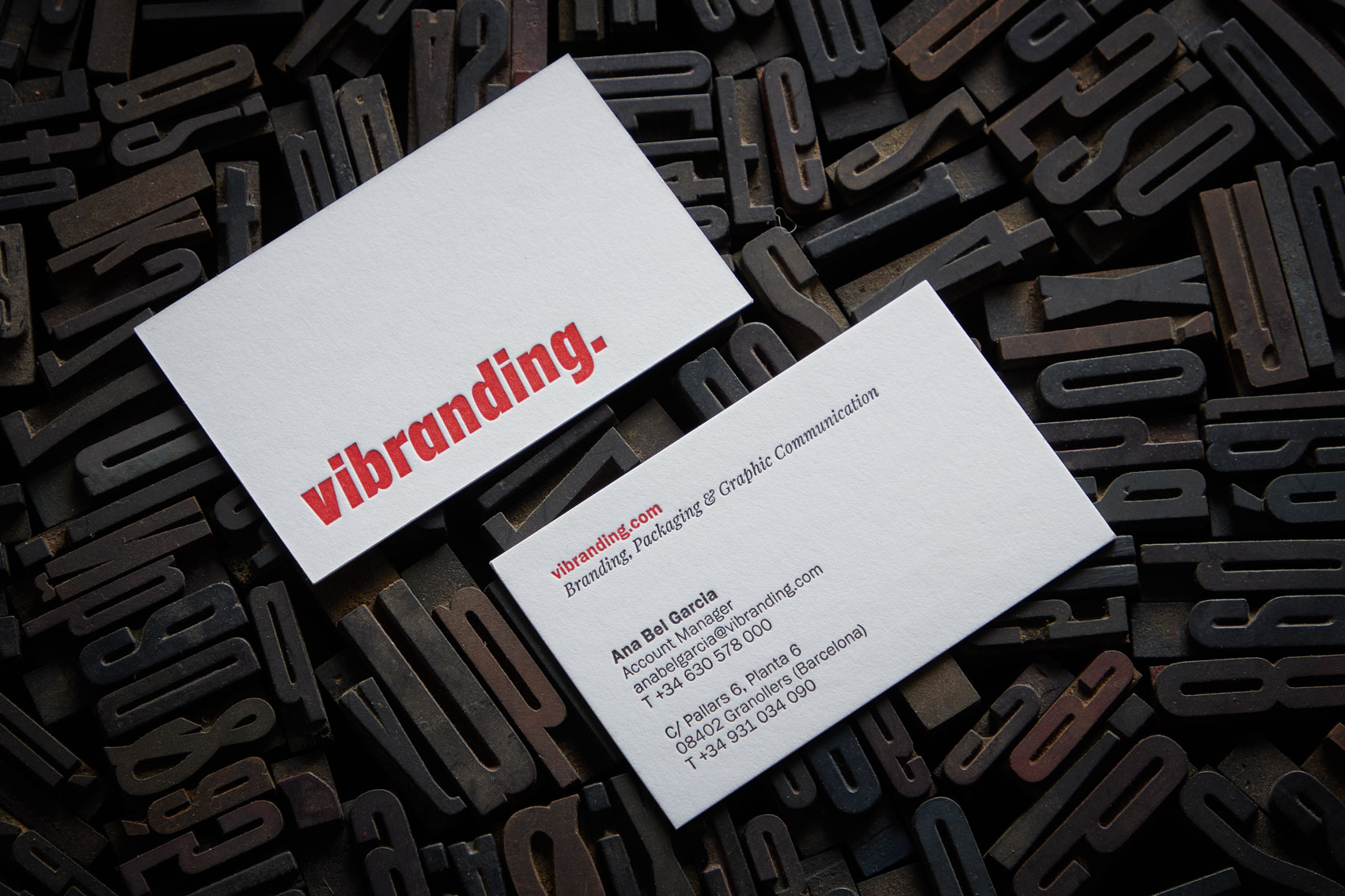 Stationery design Vibranding visit cards