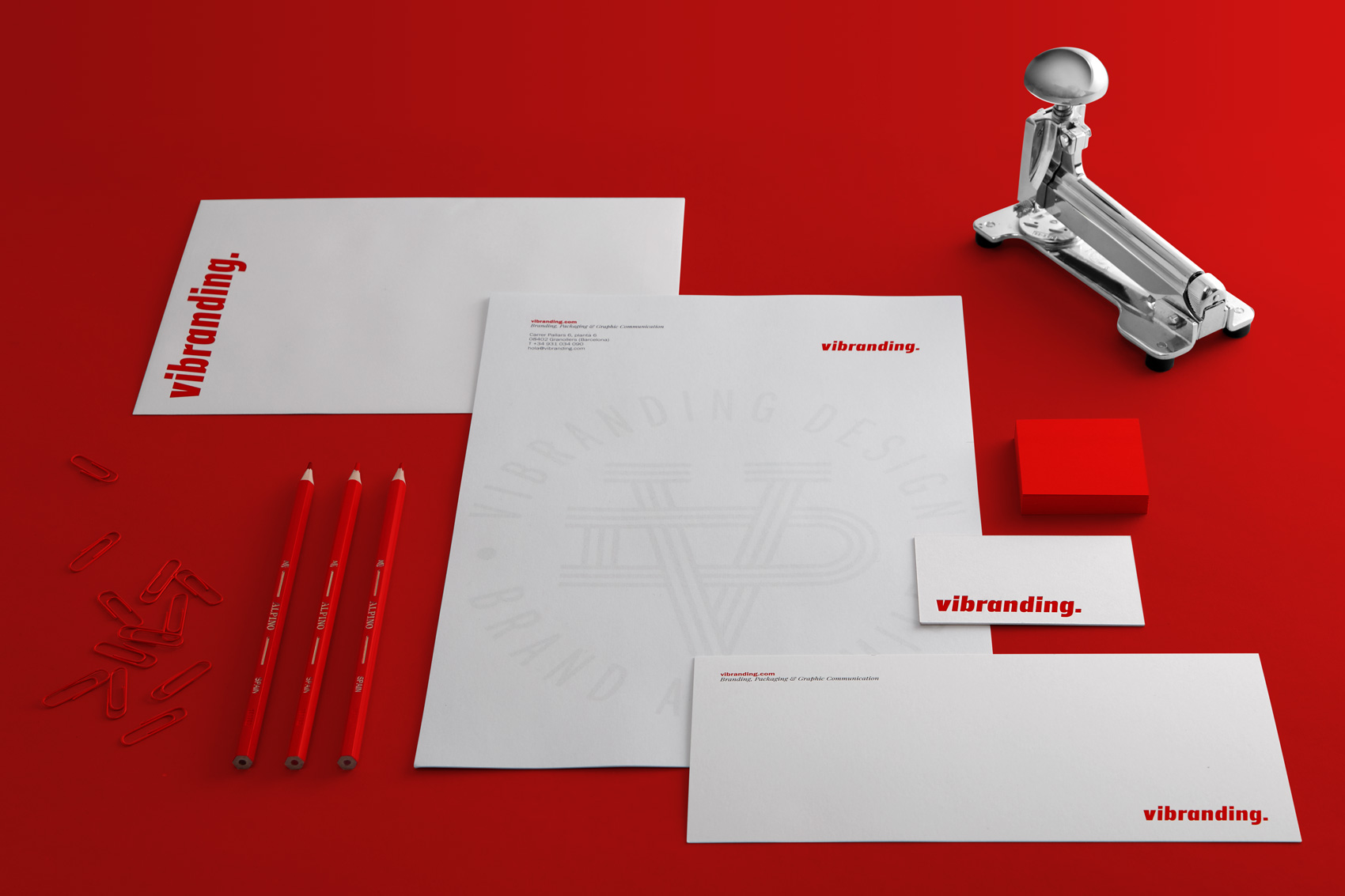 Stationery visit cards design Vibranding