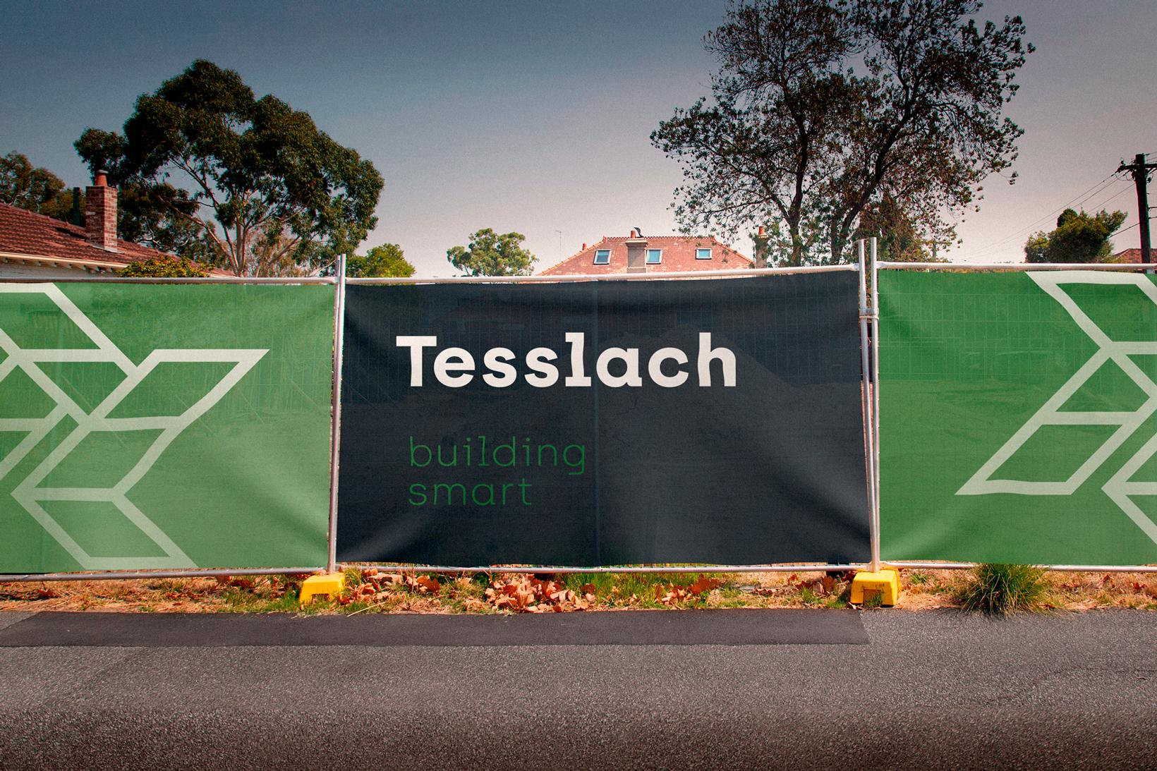 Tesslach branding logo identidad corporativa diseño gráfico aplicación Vibranding