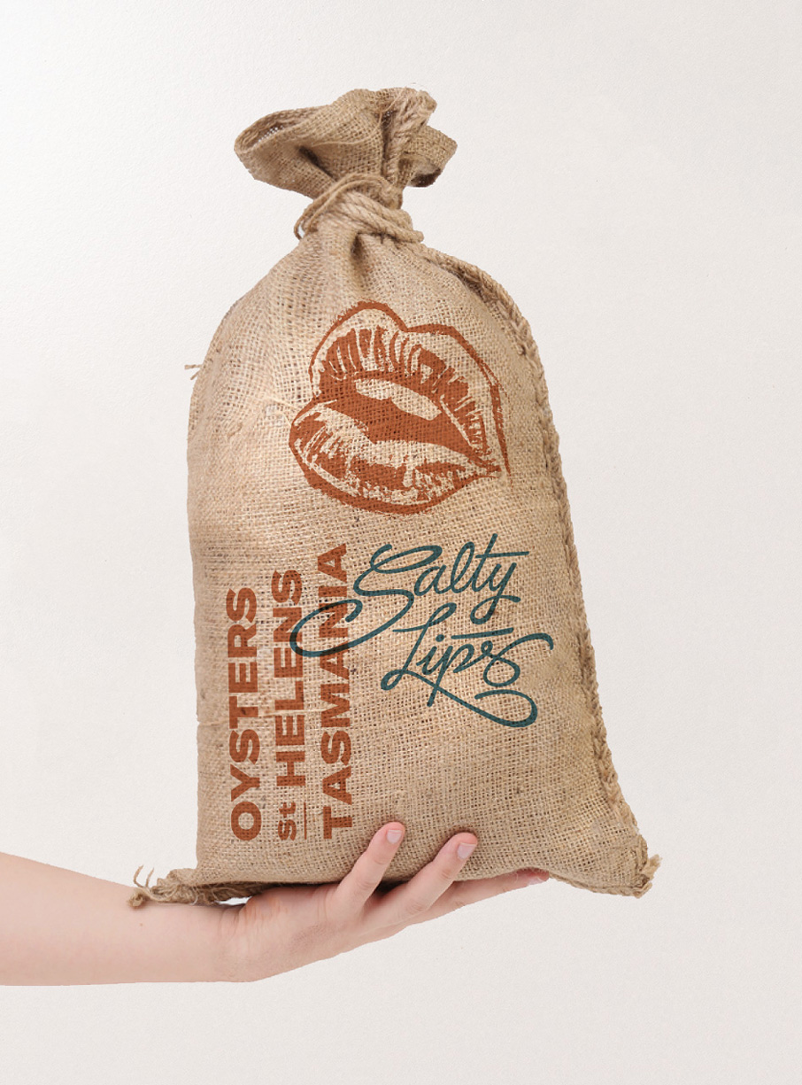 Packaging ostras Vibranding Salty Lips