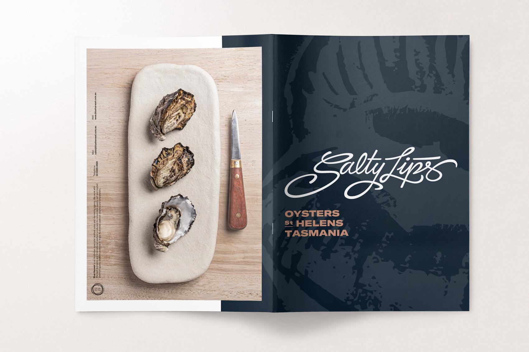 Branding Salty Lips díptic papereria Vibranding disseny fotografia
