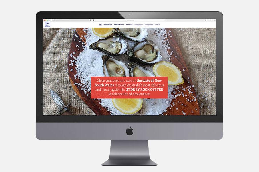 Taste NSW Web design Australia oyster branding vibranding