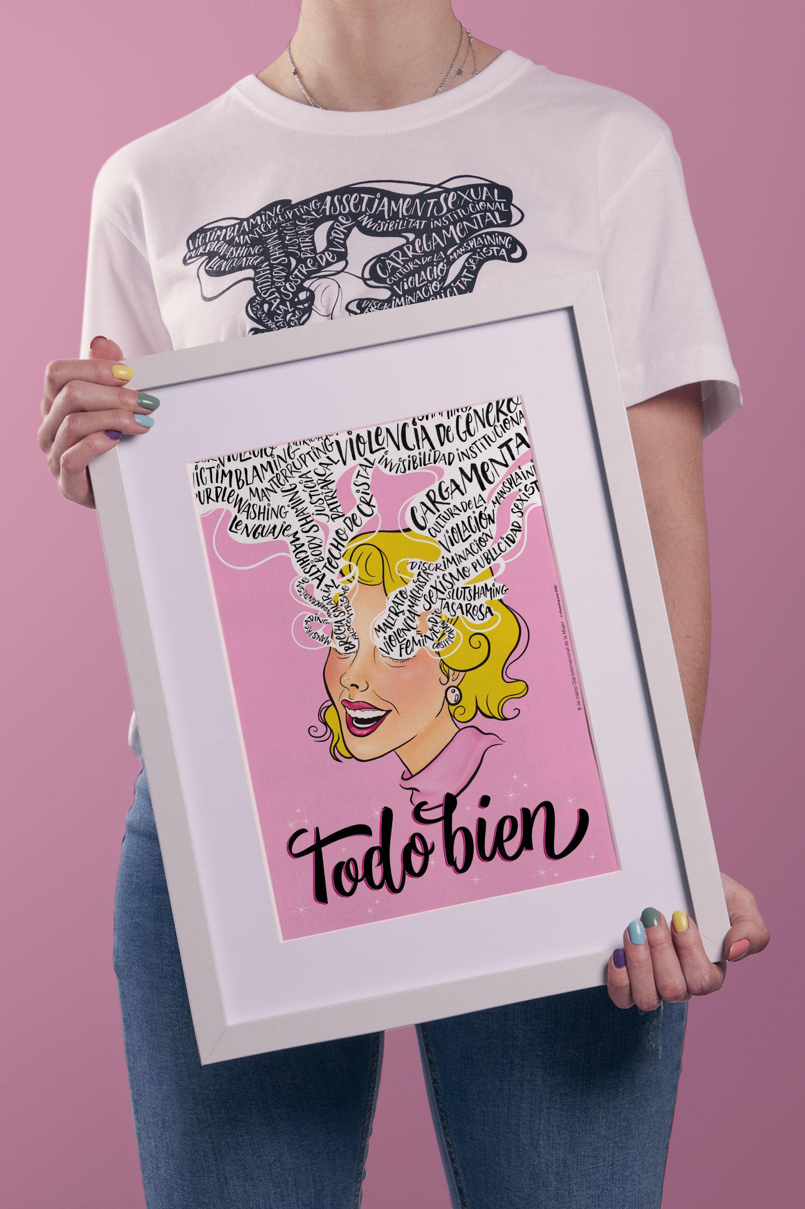 8 de marzo Vibranding Día Internacional de la Mujer feminismo lucha activismo gráfico diseño poster marco cartel manos empoderamiento sororidad