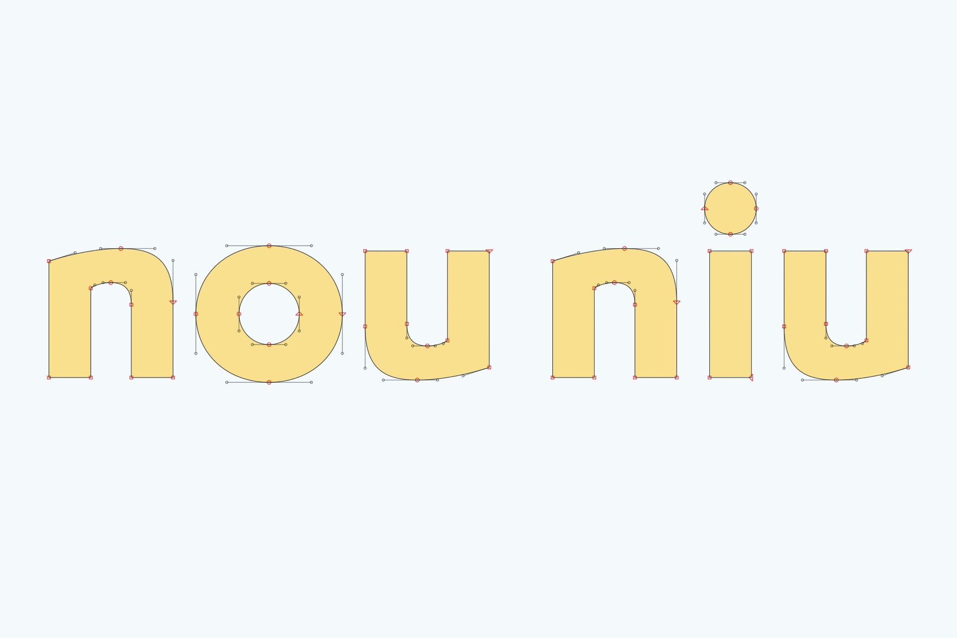 Nou Niu naming branding diseño gráfico logo tipografía Vibranding