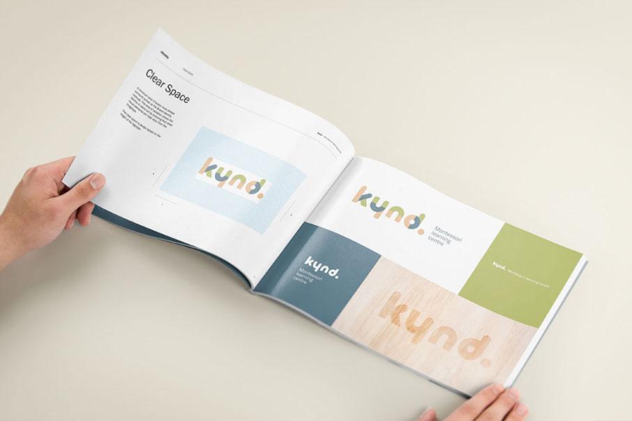 Kynd Montessori Learning Center Branding Corporate Identity visual communication graphic design logo design brand book Vibranding