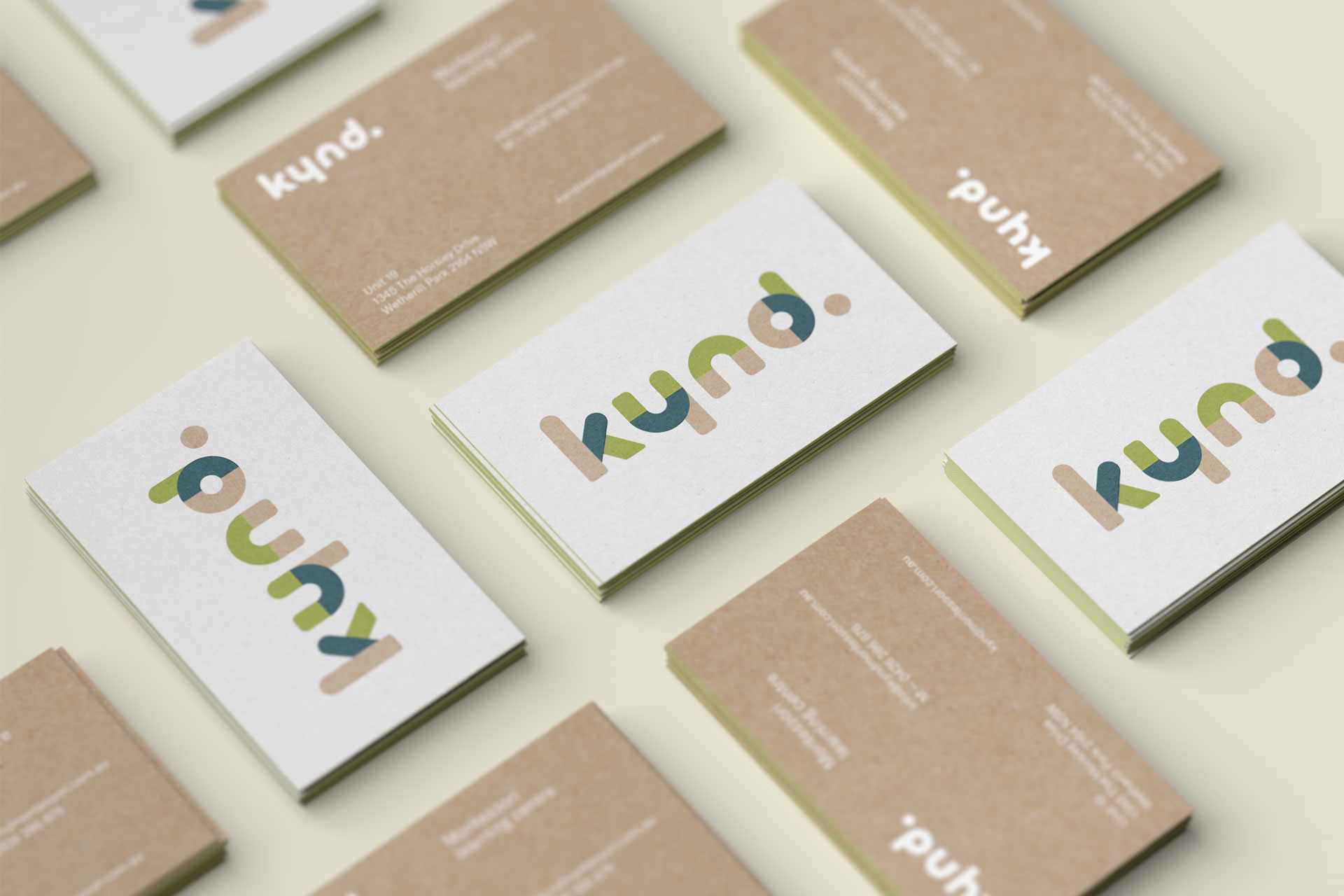 Kynd Montessori Learning Center Branding Corporate Identity visual communication graphic design logo design visit cards Vibranding