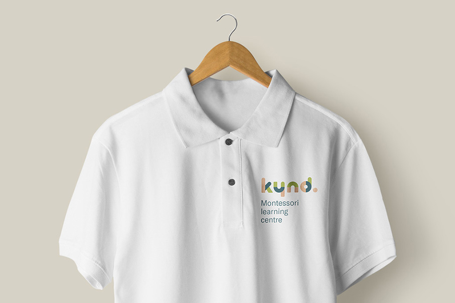 Kynd Montessori Learning Center Branding Corporate Identity visual communication graphic design logo design uniform Vibranding