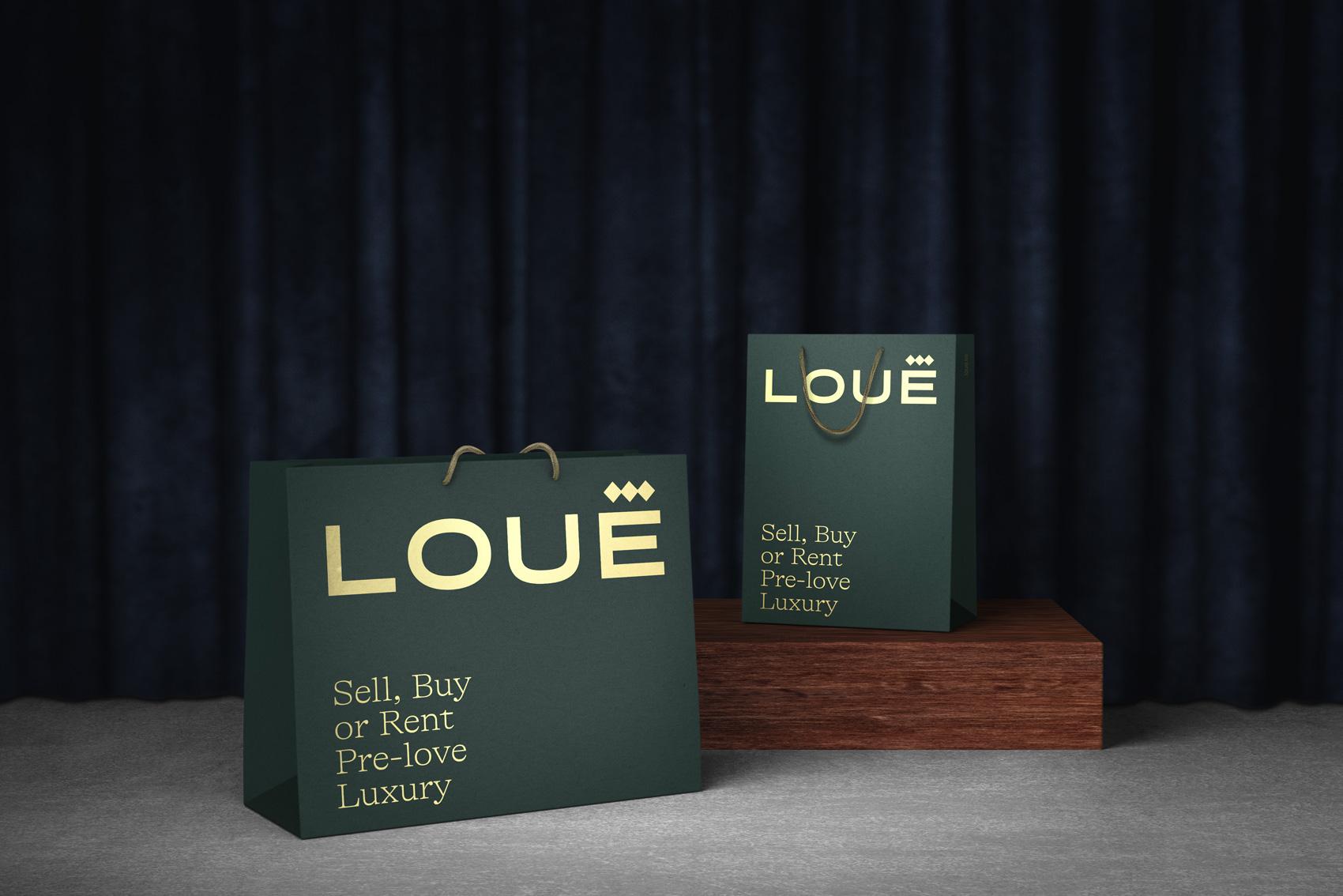 Bolsas de la tienda de moda de lujo de segunda mano Louë de Madrid