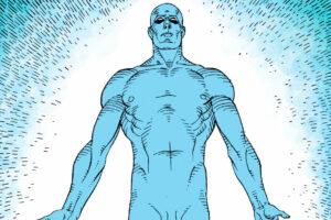 Imagen del Dr Manhattan de Watchmen para representar el poder del marketing